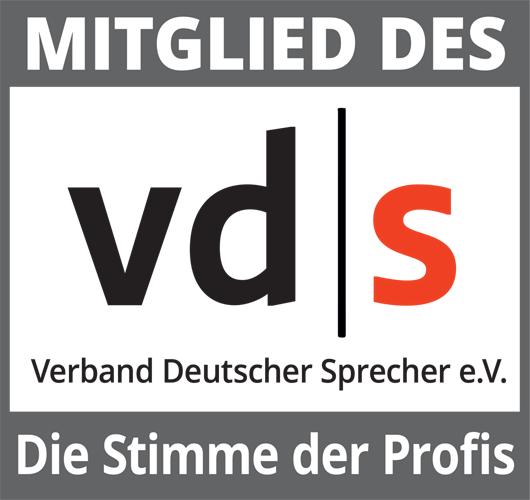 Mitglied des vd s - Verband Deutscher Sprecher e.V.